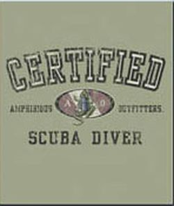 AM23NC - Amphibious Outfitters - Certified Diver Tee Shirt