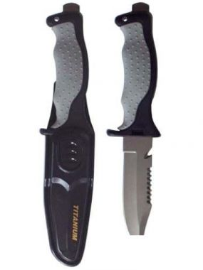 K18 - Performance Diver - Titanium Gray Knife - Flat Tip