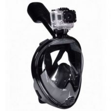 FFBL Superseal Full Face Snorkel Mask with GoPro Mount - Black L/XL